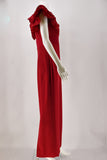Marchesa Red Ruffled Gown size 6