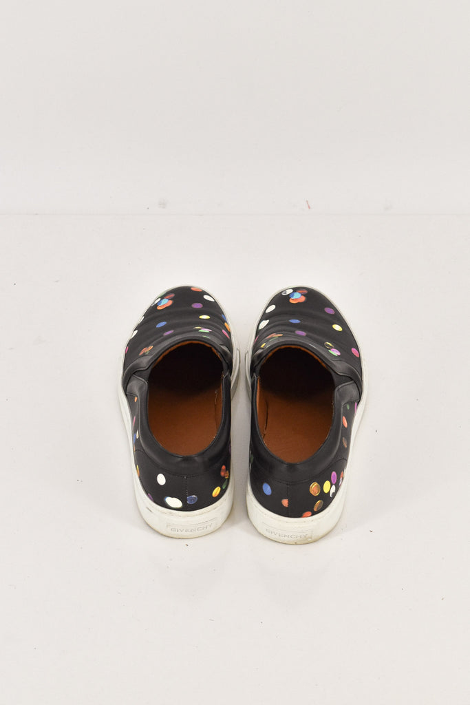 Givenchy Black Dotted Slip-on Plimsoll 36