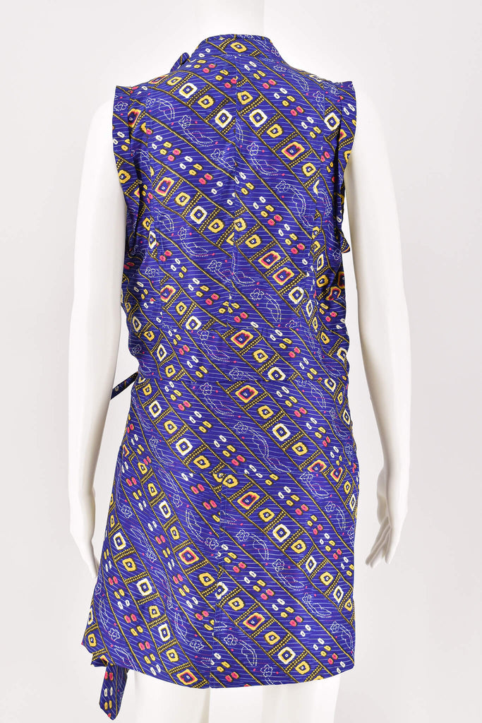 Isabel Marant Purple Thurman Printed Sleeveless Robe Dress size 40