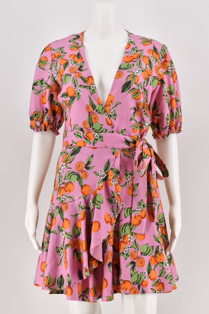 Finders Keepers Aranciata Wrap Dress size Small