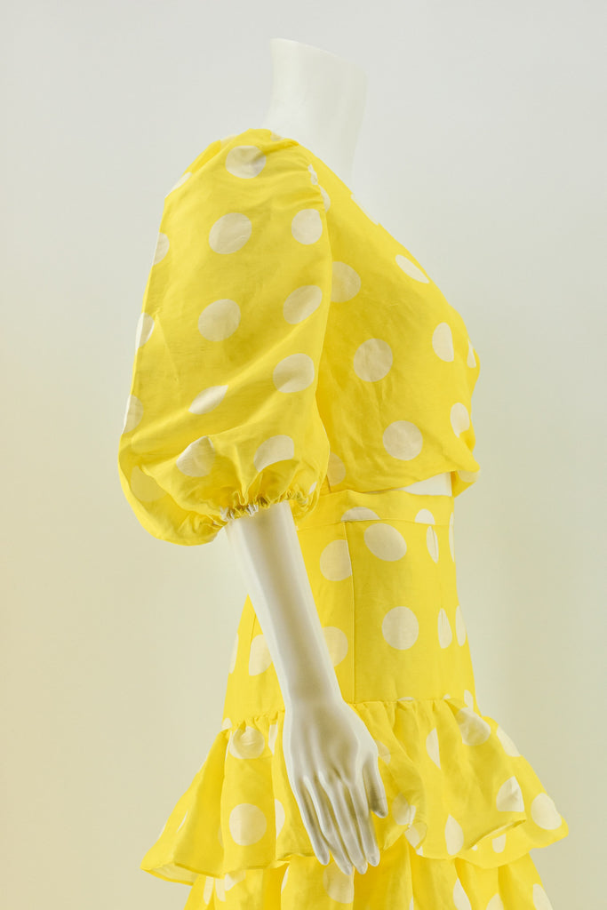 Torannce Yellow Can't Spot Me Blouse size 8
