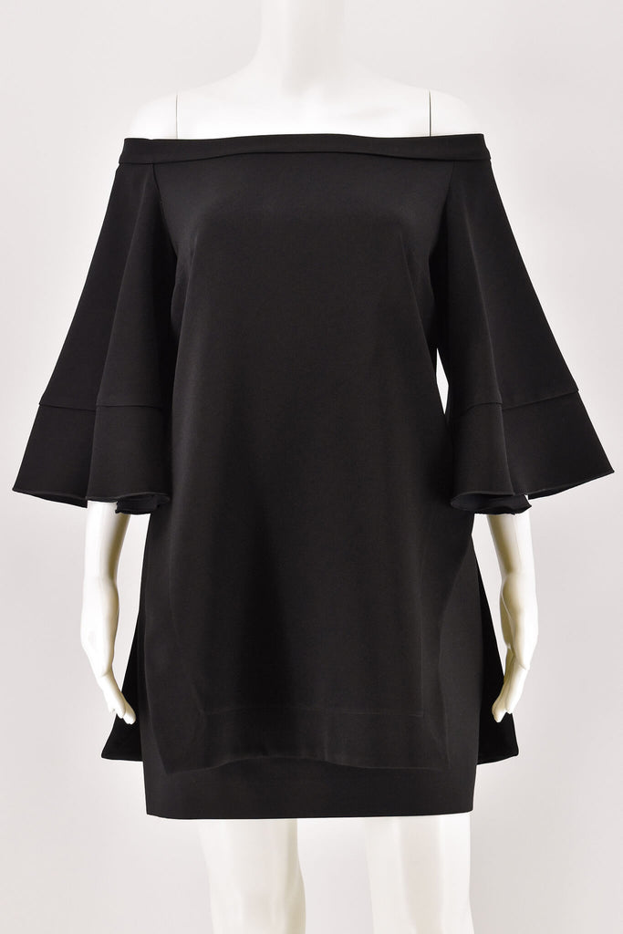 Ellery Black Elize Decolletage Top w/ 3/4 Sleeve size 8