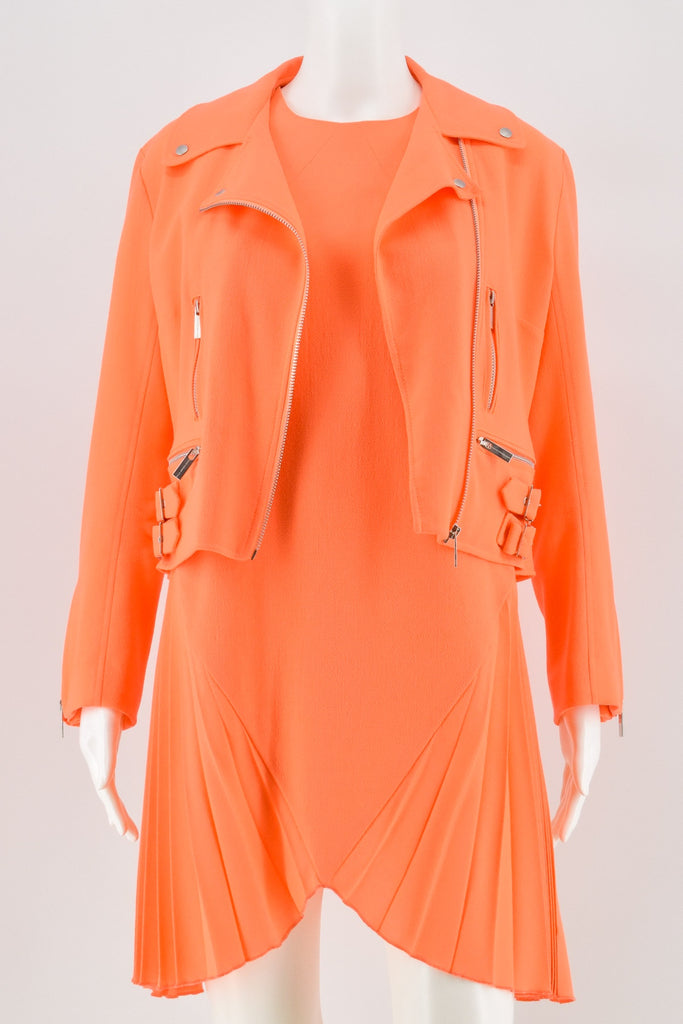 Christopher Kane Peach Biker Jacket size 8
