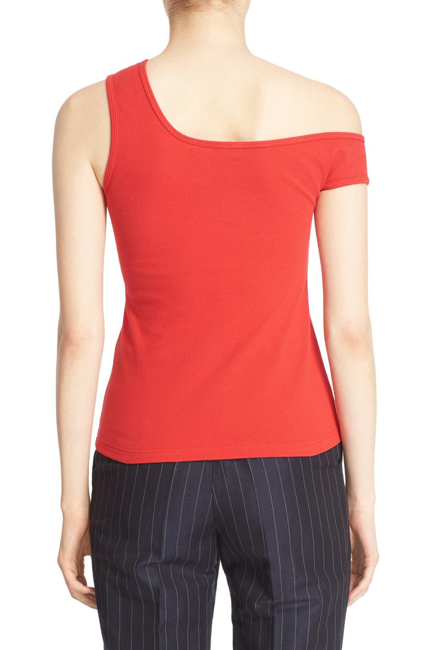 JACQUEMUS Marcel One-Should Red Top