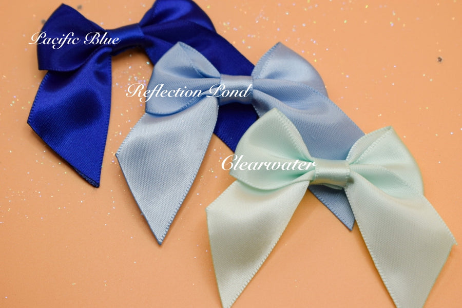 Petite Bows - Shades of Blue