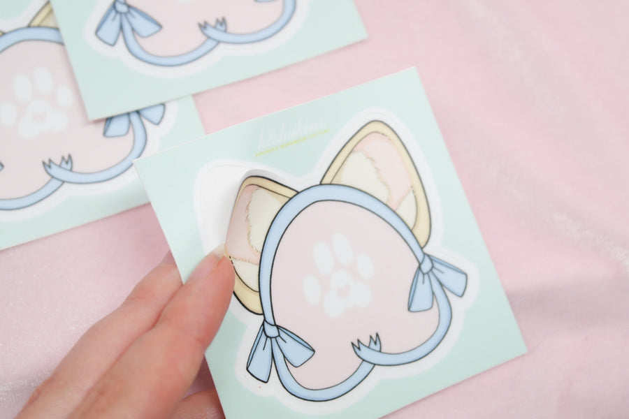 Perky Ears Vinyl Sticker