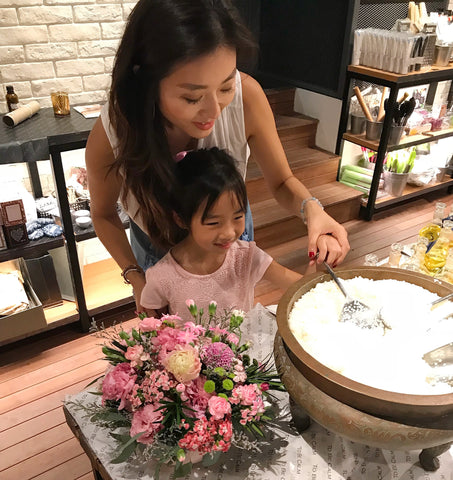 Mother's Day Mum & Child Flower Arranging and Candlemaking Workshop <BR> 9 May 2018