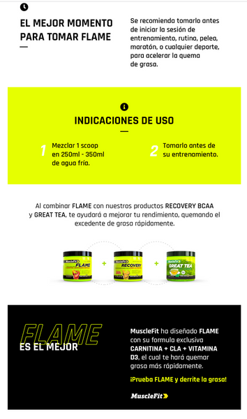 Flame Cla + Carnitina | Muscle Fit