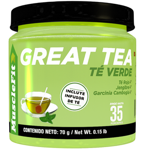 Great Tea | MuscleFit | 70g - Suplementos Deportivos