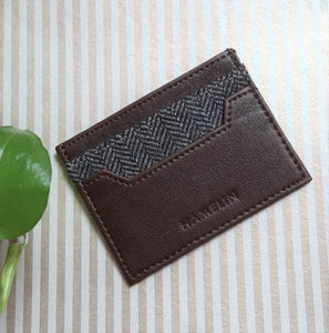 Mini Card Wallet - Tweed