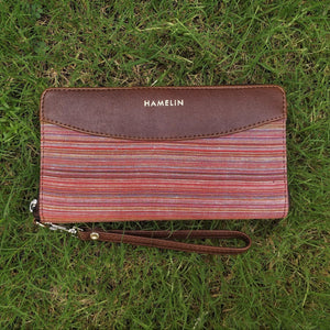 Indigo- Khadi Wallets for Women (Crimson)