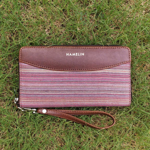 Indigo- Khadi Wallets for Women (Orchid)
