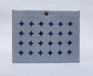 Grid - iPad Mini Sleeve - Blue