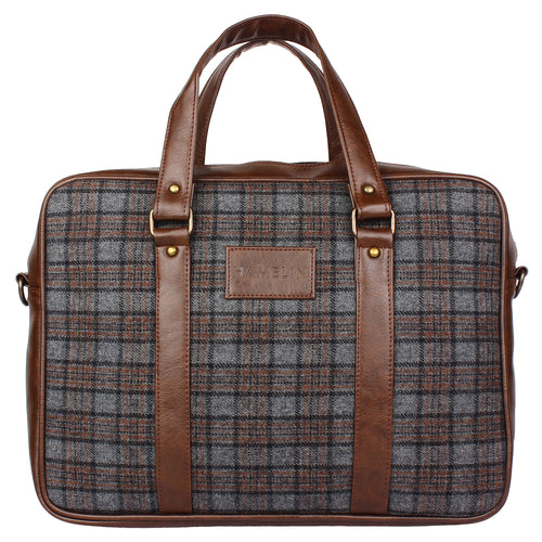 tweed laptop bag
