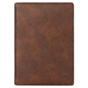 Brown - Vegan Leather Passport Holder