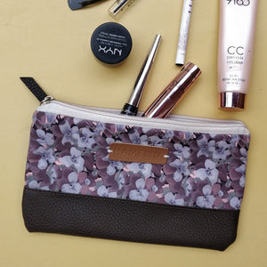 Gray Floral - Multi-purpose pouch