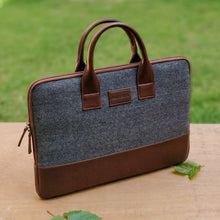 Elon Laptop Sleeve - Gray Herringbone