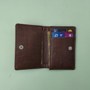Slim Card Wallet - Dark Brown