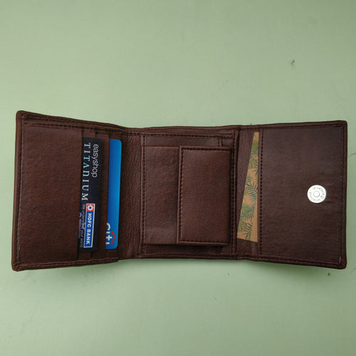 Trifold Wallet - Dark Brown
