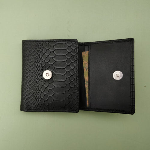 Trifold Wallet - Black Croc