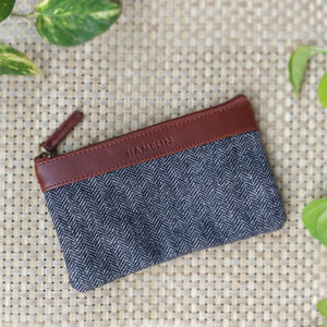 Aria Multi-purpose Pouch (Tweed - Grey Herringbone)