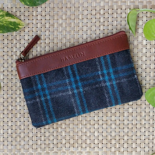 Aria Multi-purpose Pouch (Tweed - Blue Tartan Twill)