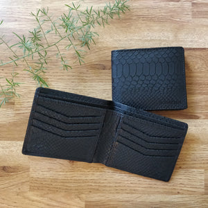 Classic RFID Vegan Wallet for Men (Black Croc)