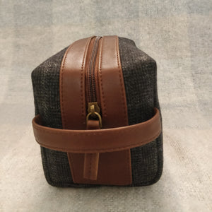 Tweed DOPP Kit for Men (Charcoal Twill)