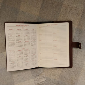 Tweed Journal (Pecan Check Twill) - FINAL SALE