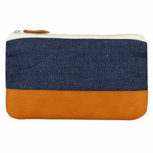 Denim & Vegan leather - Multi-purpose pouch