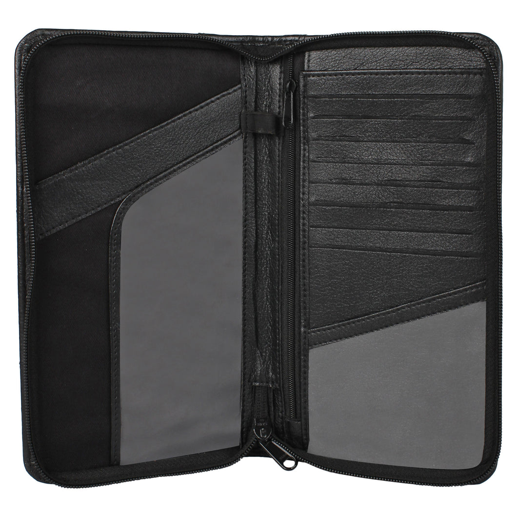 Ultimate Travel Document Organizer - Vegan Leather (Black)