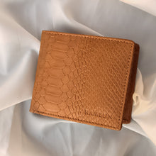 Classic RFID Vegan Wallet for Men with Coin Pocket (Tan Croc)