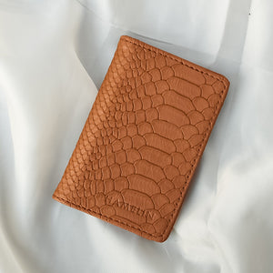 Slim Card Wallet - Tan Croc