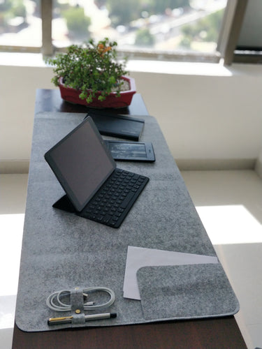 Neuro Felt Desk Spread (Fog Grey) - FINAL SALE