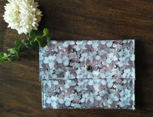 Gray Floral - Sanitary Pouch for Women