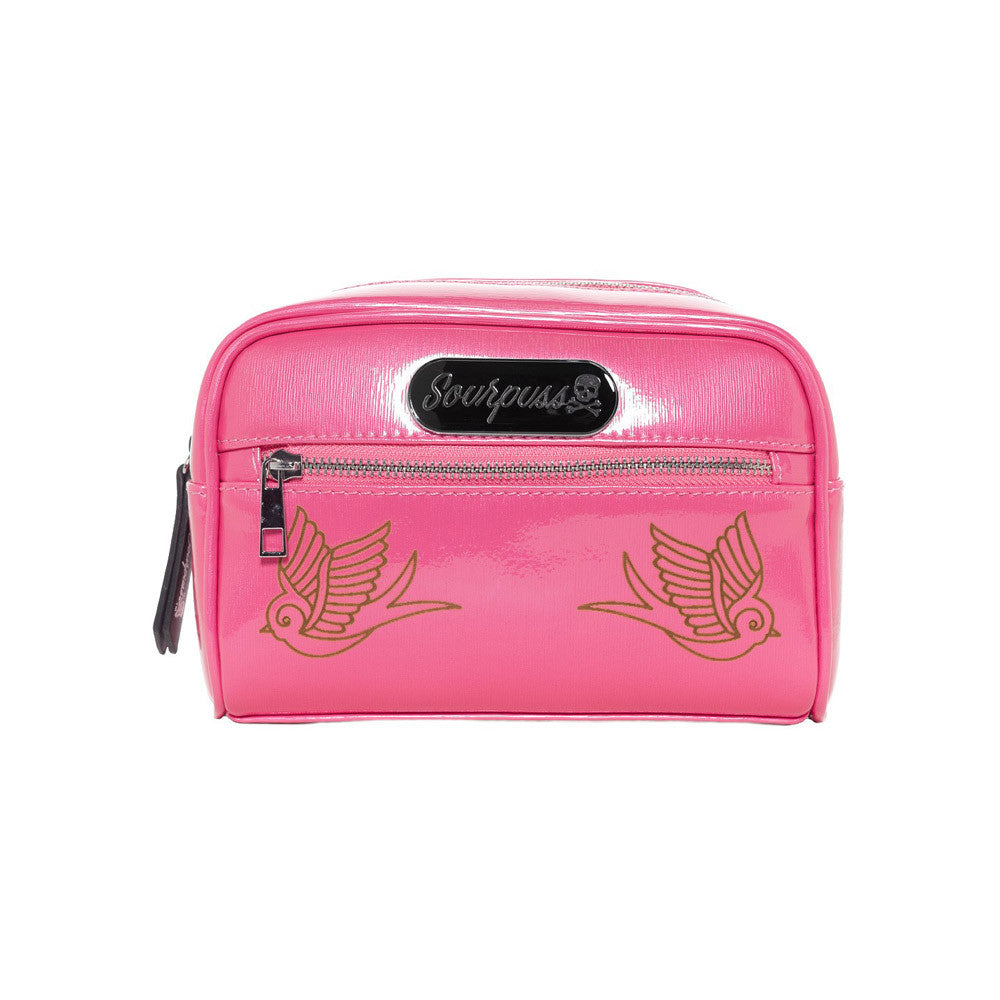 Sourpuss Betsy Make Up Bag, Sparrow, Gumball Pink