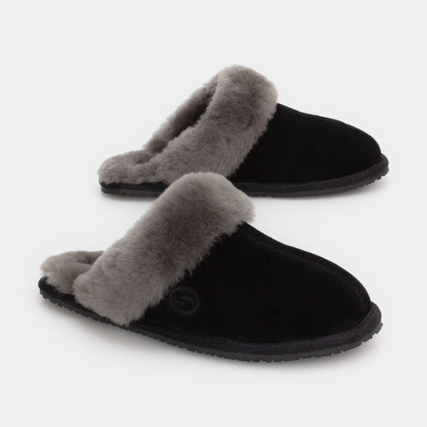 MAYA BLACK, Women's Sheepskin Slippers, SHEPHY®, SHEPHY, The best quality genuine sheepskin ugg slippers for women and men.