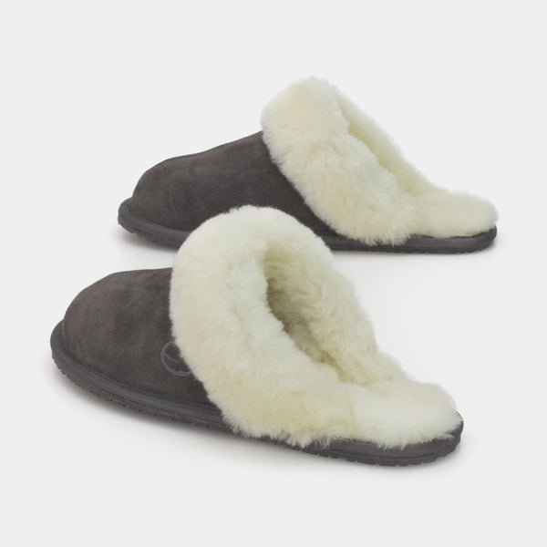 MAYA GREY, Women's Sheepskin Slippers, SHEPHY®, SHEPHY, The best quality genuine sheepskin ugg slippers for women and men.