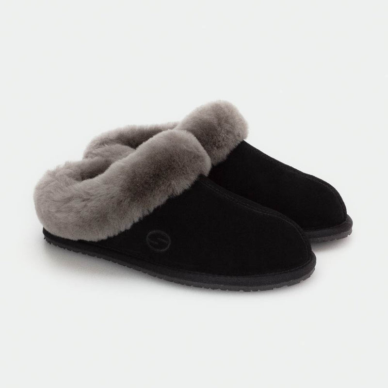 MUSE BLACK, Women's Sheepskin Slippers, SHEPHY®, SHEPHY, The best quality genuine sheepskin ugg slippers for women and men.