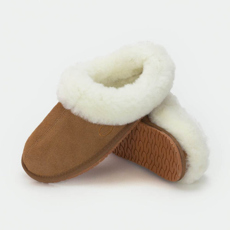 MUSE CAMEL, Women's Sheepskin Slippers, SHEPHY®, SHEPHY, The best quality genuine sheepskin ugg slippers for women and men.