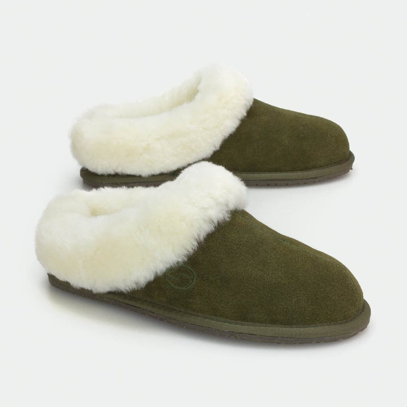 MUSE GREEN, Women's Sheepskin Slippers, SHEPHY®, SHEPHY, The best quality genuine sheepskin ugg slippers for women and men.