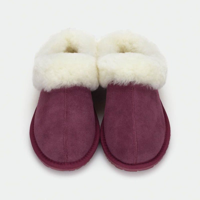 MUSE MAROON, Women's Sheepskin Slippers, SHEPHY®, SHEPHY, The best quality genuine sheepskin ugg slippers for women and men.