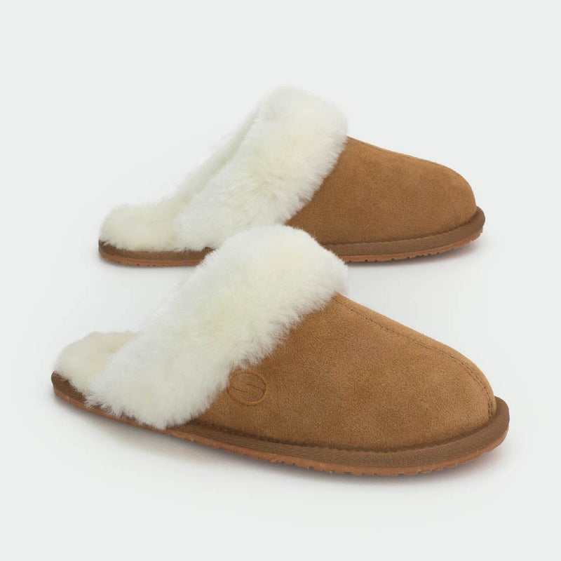 MAYA CAMEL, Women's Sheepskin Slippers, SHEPHY®, SHEPHY, The best quality genuine sheepskin ugg slippers for women and men.
