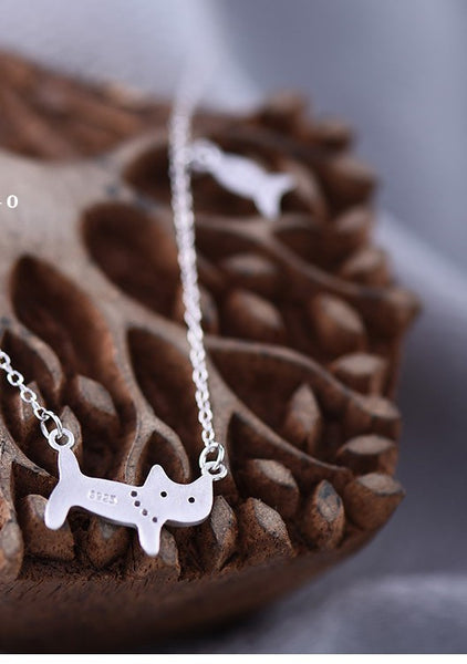 Sterling Silver Cat Necklace
