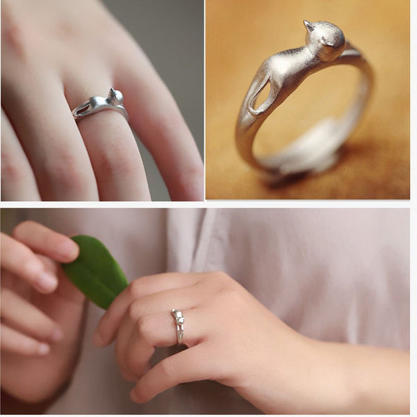 Stretched Out Cat Ring - One Size