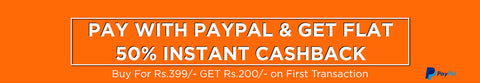 PAYPAL 200 Rs Cash Back offer