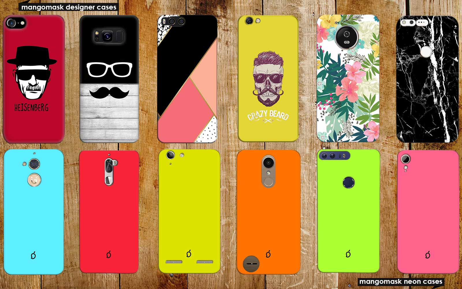 Buy Best Custom Printed Designer Funky Mobile Phone Cases, Flip Back Covers for Alcatel Idol 4 in India at Mangomask.