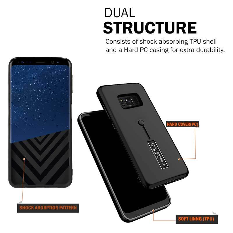 Samsung Galaxy S8 BLACK Mangomask™ ARMOR-GRIP Series - Protective Phone case for Samsung Galaxy S8 (Black,Red,Blue)