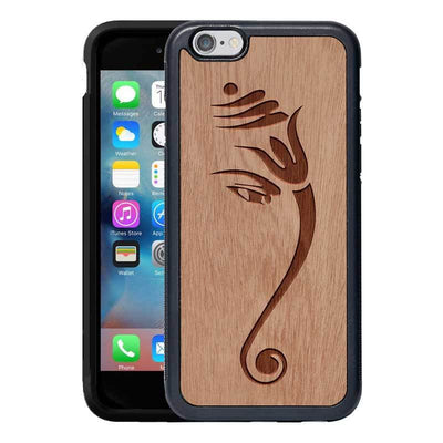Mangomask™ - Apple iPhone 6 Plus / 6S Plus Ganesha Engraved on Mahogany Real Wood Slim Mobile Phone Case Back Cover