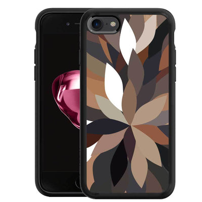 Mangomask™ - Apple iPhone 8 Dark-Floral-Pattern Print on Real Wood Slim Mobile Phone Case Back Cover